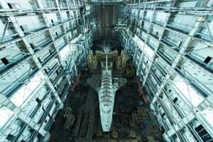 Lost in space. Former space shuttle facility in Kazakhstan