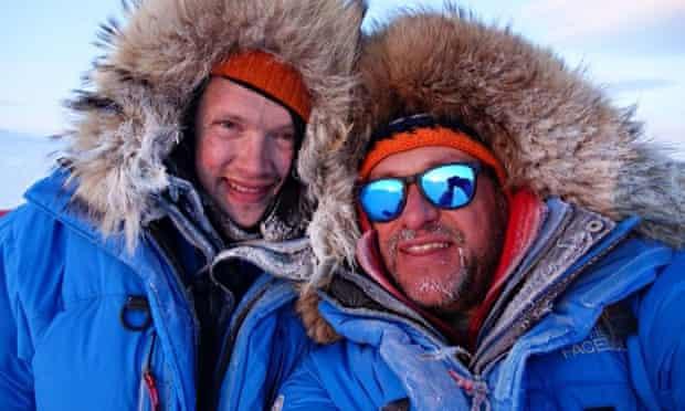 Philip de Roo (left) and Marc Cornelissen on their last Arctic expedition