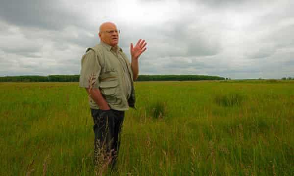 Hans Voigt at the rewetted low bog areas - Neukalener Moorwiesen.