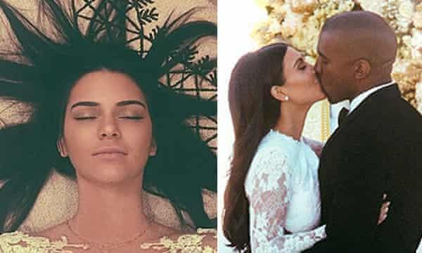 Kendall Jenner and Kim Kardashian's wedding day Instagram