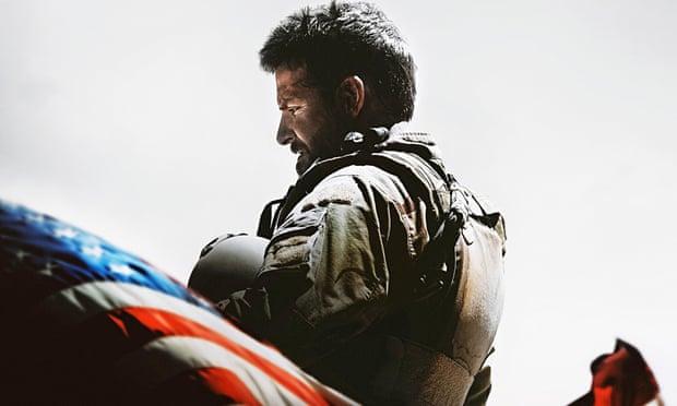 Celebrated for killing dozens of Iraqis …Bradley Cooper as Chris Kyle in American Sniper.