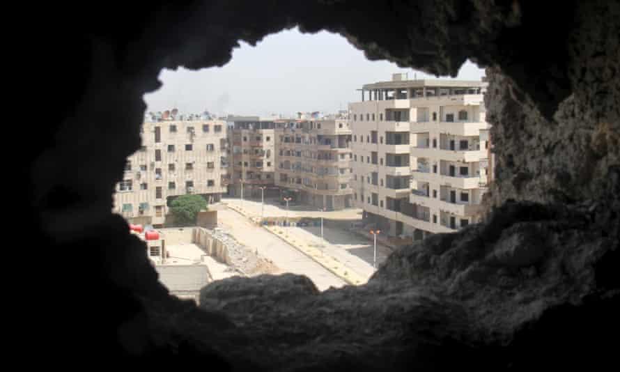 Yarmouk Palestinian refugee camp on the edge of Damascus.