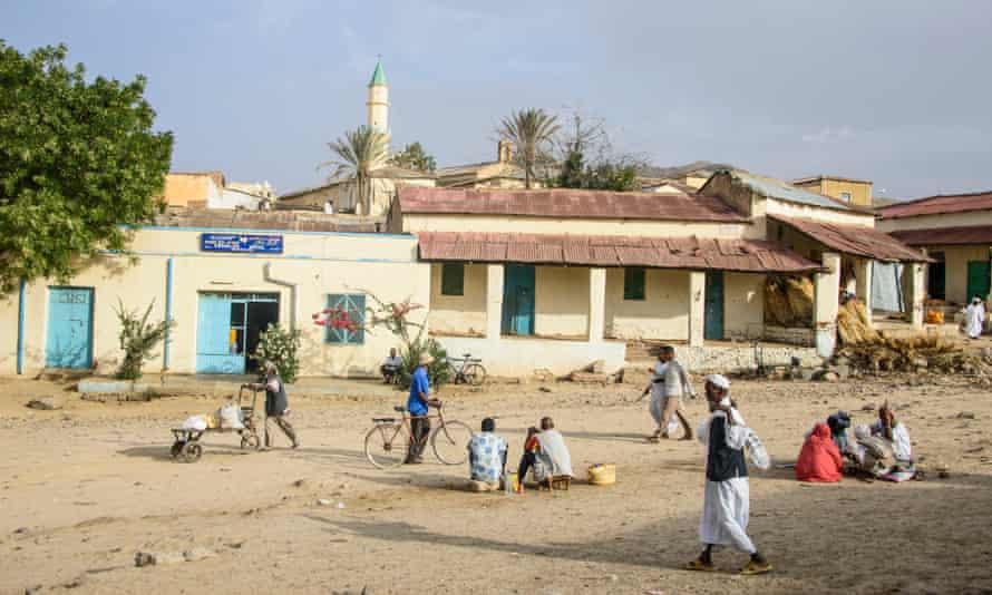 Street scene in the town of Keren, Eritrea