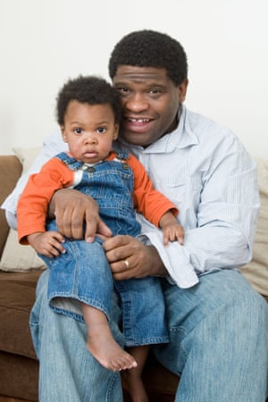 Gary Younge with his son in 2008.