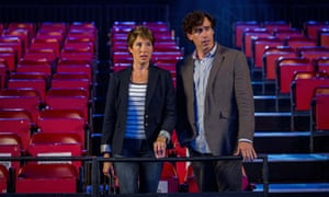 Hollywood chills… Beverly Lincoln (Tamsin Greig) and Sean Lincoln (Stephen Mangan).
