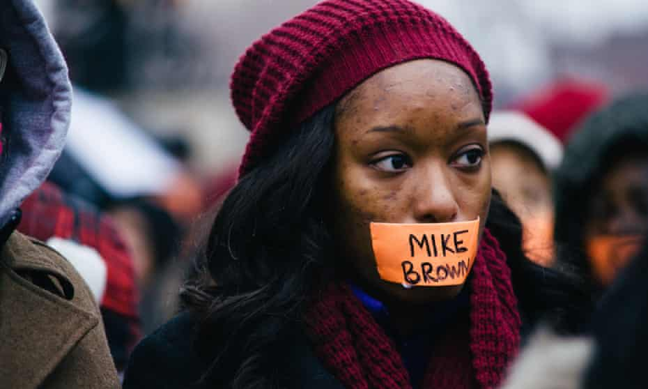 A protest against the killing of Michael Brown in St Louis.