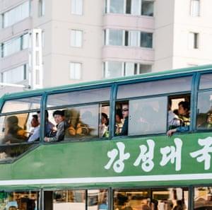 Pyongyang at rush-hour
