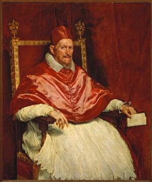 Pope Innocent X by Diego Rodriguez de Silva y Velazquez.