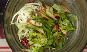 Yotam Ottolenghi's rhubarb, fennel and celery salad: 'A refreshing starter.'