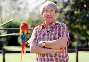 TV John Noakes presenter at Bird World
