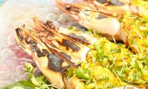 Karam Sethi's kasundi wild tiger prawns