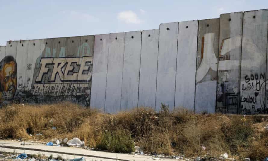 West Bank city of Ramallah barrier