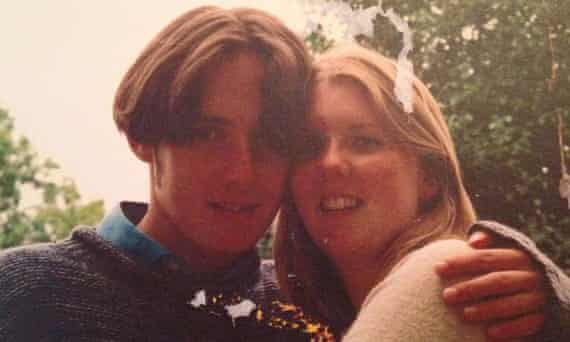 Caroline and Iain in 1999, when they were still at school.