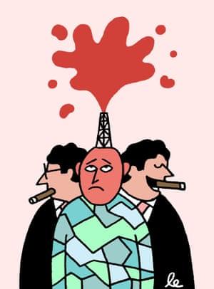 Redefining citizens as frackable units ... Illustration: Leon Edler