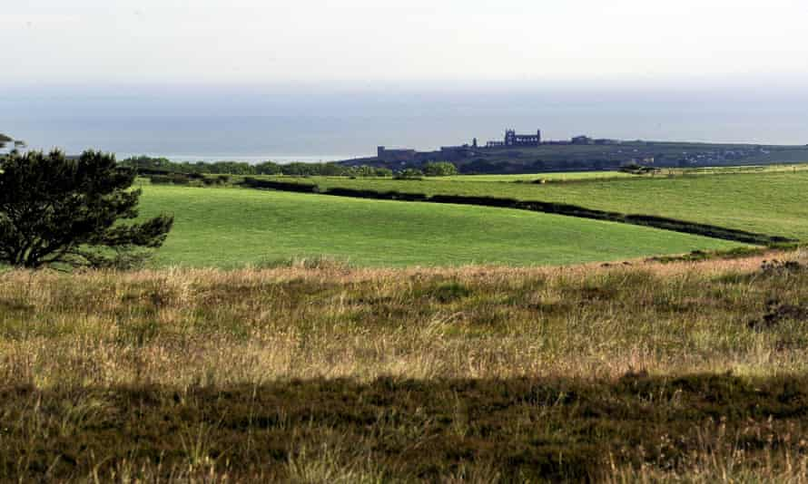 A view close to the proposed site for the York Potash mine near Whitby in the North York Moors national park.
