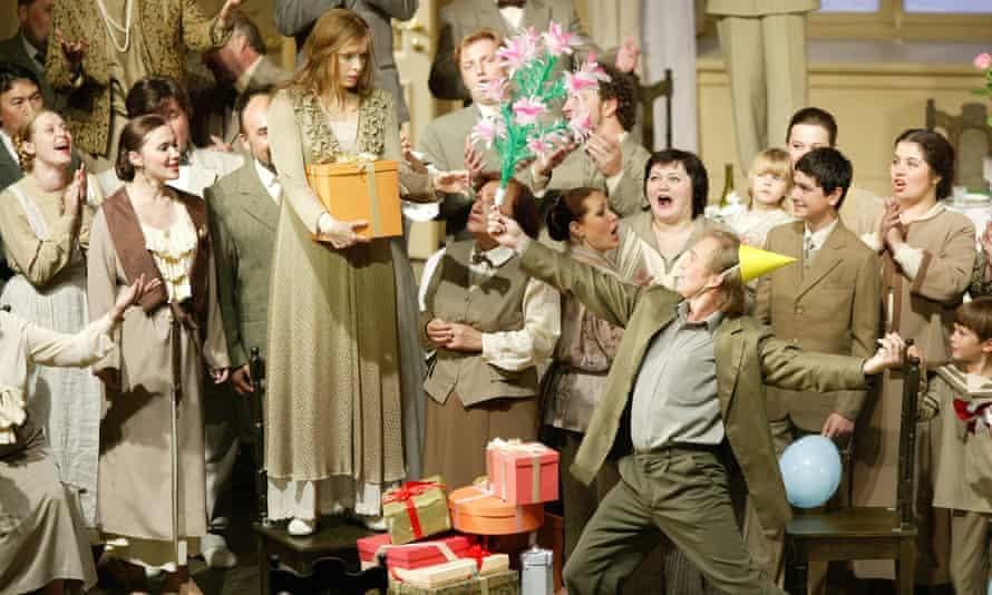 Bolshoi Opera's production of Eugene Onegin featuring Ekaterina Shcherbachenko as Tatiana and Andrew Goodwin as Lensky.