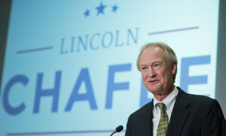Lincoln Chafee announces his candidacy for the Democratic presidential nomination.