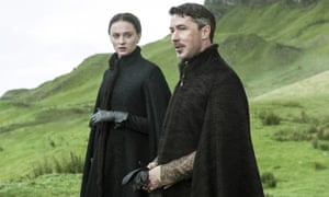 "Frenemies? Sophie Turner as Sansa Stark and Aidan Gillen as Petyr ""Littlefinger"" Baelish in the screen adaptation of Game of Thrones"
