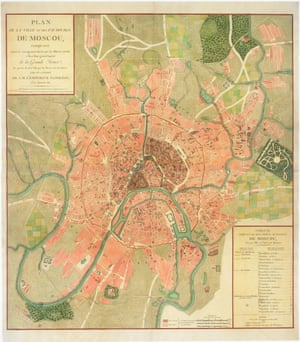 Map of Moscow (1812)