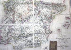 Detail from a Military Map of Spain and Portugal (1812)