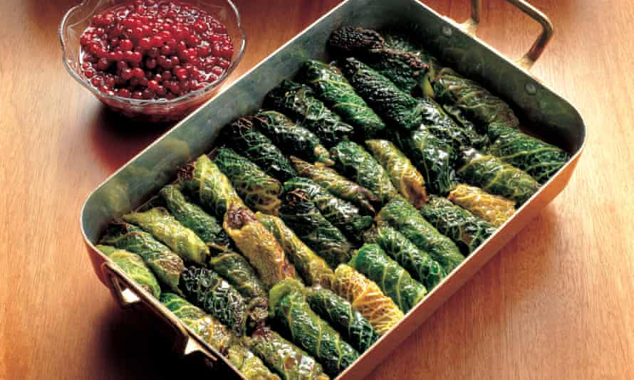 Stuffed cabbage leaves.