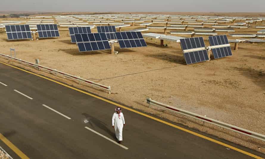 Solar panels at the King Abdulaziz city of Sciences and Technology, Saudi Arabia