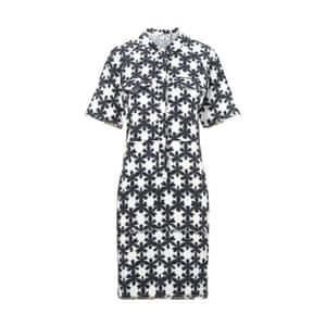 50 best summer dresses - black and white patterned print half sleeve shirt dress by Whistles