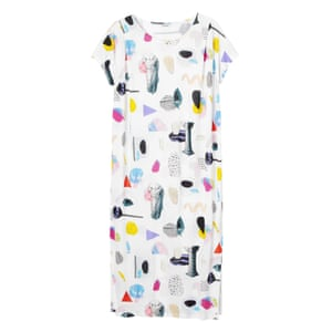 50 best summer dresses - white midi dress with all over multi item print by Monki