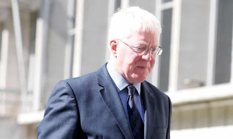 Malcolm Layfield arrives at Manchester crown court.