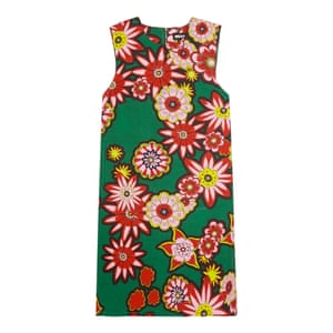 50 best summer dresses - green mini dress with oversized retro style multi colour floral print all over by House of Holland