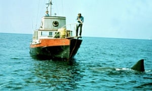Richard Dreyfuss and Robert Shaw in a scene from Jaws.