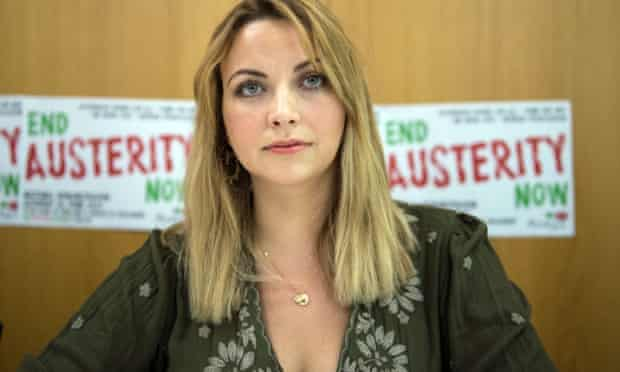 Singer Charlotte Church attends a press conference at the headquarters of the union Unite in London to announce a march on June 20 against the government's austerity policy.