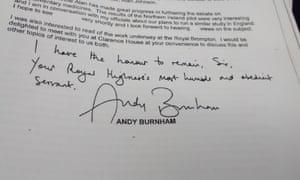 Andy Burnham sign-off