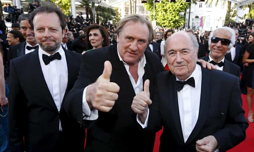 Auburtin, Gerard Depardieu and Sepp Blatter tread the red carpet.
