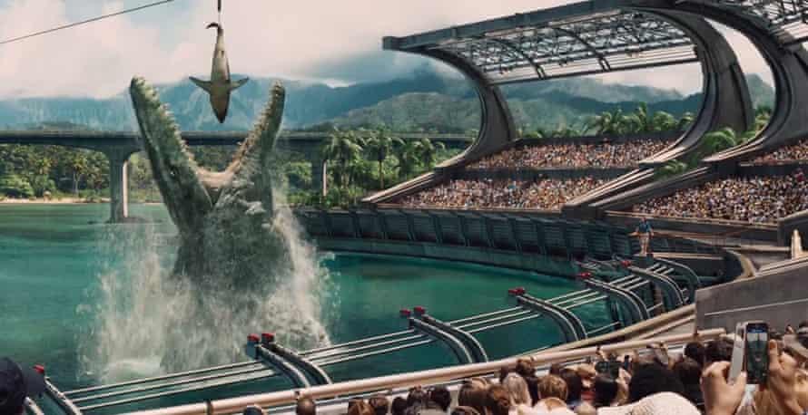 Making a splash … Jurassic World. Photograph: Universal/Guzelian