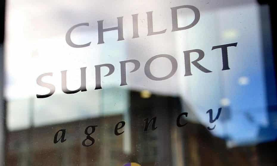 A sign outside the office of the Child Support Agency in Belfast.