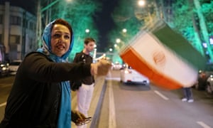 Tehran residents celebrate nuclear deal