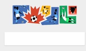 Google doodle: women's World Cup 2015.
