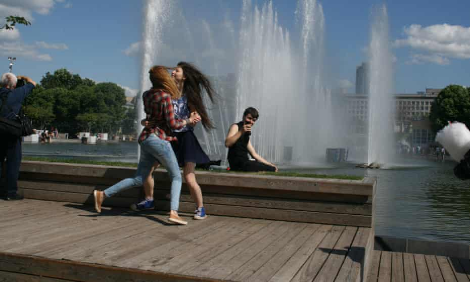 Young Muscovites dancing in Gorky Park, which has benefited from a spectacular facelift in recent years.