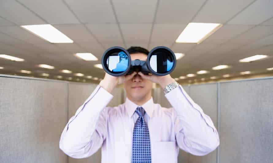 Binoculars man
