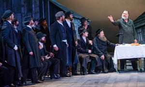 Bryn Terfel (Tevye), far right, in Fiddler on the Roof at Grange Park Opera.