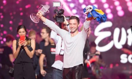 Måns Zelmerlöw of Sweden,winner of Eurovision 2015