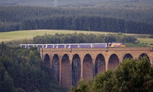 The Caledonian sleeper nears Inverness on its journey from London.