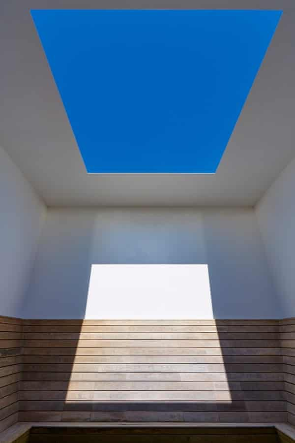 James Turrell's LightScape installation at Houghton Hall: Seldom Seen, 2002, one of the artist's Skyspaces.