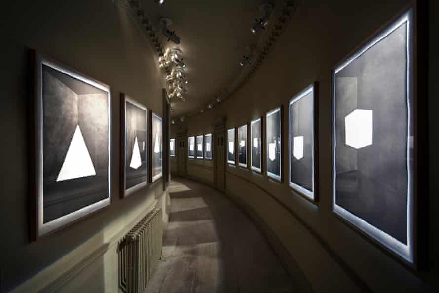 James Turrell's LightSpace installation at Houghton Hall: First Light - Etchings in Aquatint, 1989-90.