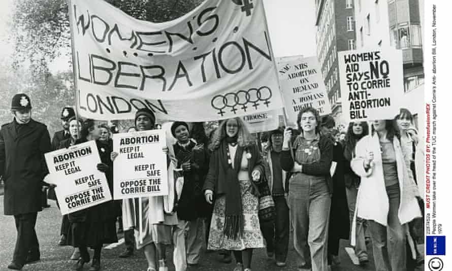 March against anti-abortion plans in 1979