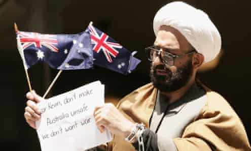 'This pen is my gun and these words are my bullets' ... Man Monis outside court in Sydney in 2009. Photograph: Sergio Dioniso/AAP
