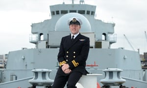 Lt Cdr Chris Wood, an openly gay naval officer