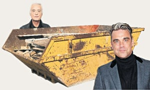Bad neighbours: Jimmy Page and Robbie Williams.