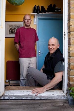 Peter and Richard at 44 Islington Park Road.